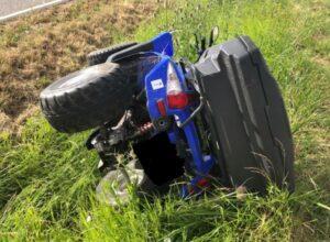 Edenkoben – Quadfahrer verliert Kontrolle über sein Fahrzeug