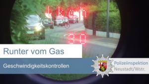 Neustadt/Weinstraße – Geschwindigkeitsmessung in der Sauterstraße