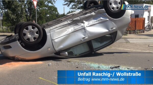 Ludwigshafen – VIDEO NACHTRAG – Unfall Kreuzung Raschig- / Wollstraße