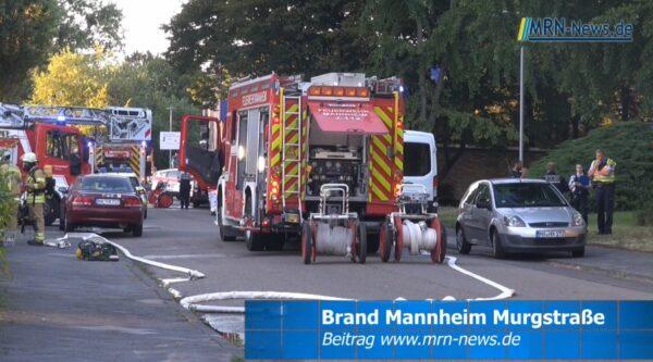 Mannheim – VIDEO NACHTRAG – 35 Personen evakuiert und 5 Verletzte bei Brand in der Murgstraße
