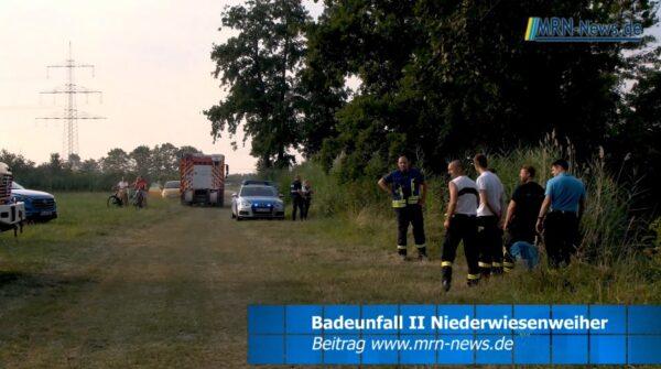 Rhein-Pfalz-Kreis – VIDEO NACHTRAG – Erneut tödlicher Badeunfall am Niederweisenweiher in Böhl-Iggelheim