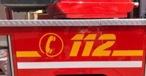 Lorsch/B47- Fahrzeug gerät in Brand