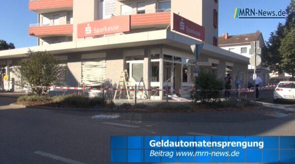 Rhein-Pfalz-Kreis – VIDEO NACHTRAG – Totale Verwüstung bei Geldautomatensprengung Sparkasse Vorderpfalz in Dannstadt