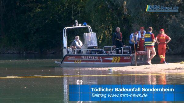 Germersheim – VIDEO NACHTRAG – Tödlicher Badeunfall am Baggersee Sondernheim
