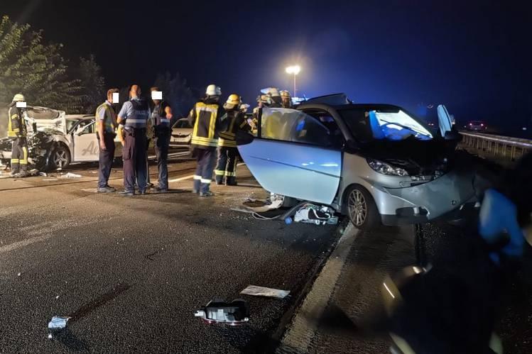 Verkehrsunfall mit mehreren Fahrzeugen - Foto: Feuerwehr Dannstadt-Schauernheim