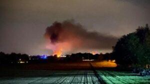 Dossenheim –  NACHTRAG: Brand eines Treibhauses – Großeinsatz der Feuerwehren