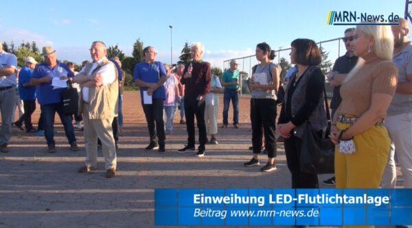 Ludwigshafen – VIDEO – Neue LED-Flutlichtanlage für den  DJK Blau-Weiß Oppau eingeweiht