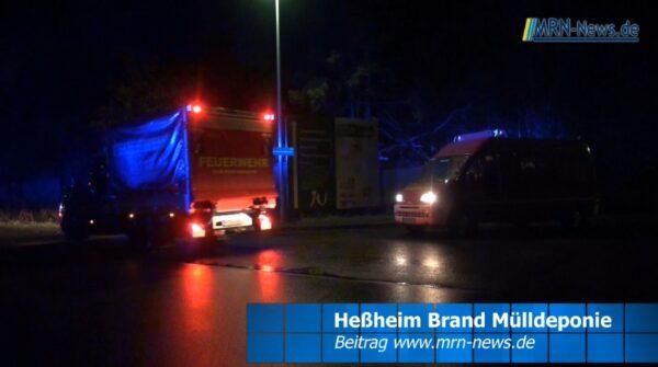 Rhein-Pfalz-Kreis – VIDEO ERSTMELDUNG – Großbrand auf Sondermülldeponie Heßheim – #Katwarn