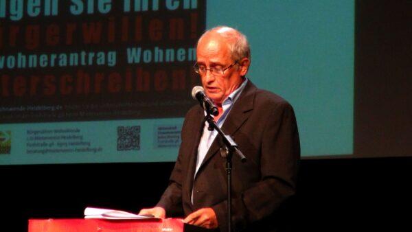 """Heidelberg – Mieterverein informierte in der Halle02 zum """"Einwohnerantrag Wohnungspolitik"""" und über """"Die neue Krise der Städte"""" – VIDEO"""