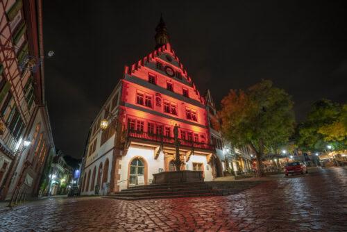 Weinheim – Lichtblicke in der dunklen Zeit ! In Weinheim sollen über Winter markante Gebäude leuchten – Sparkasse als Sponsor – Wer will mitmachen?