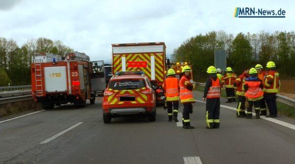 St. Leon-Rot – A5 – 3. NACHTRAG – Schwer Verkehrsunfall Walldorfer Kreuz – Vollsperrung aufgehoben