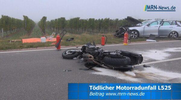 Bad Dürkheim / Wachenheim – VIDEO NACHTRAG: Motorradfahrer verstarb bei schwerem Unfall auf der #L525 – Strecke noch voll gesperrt