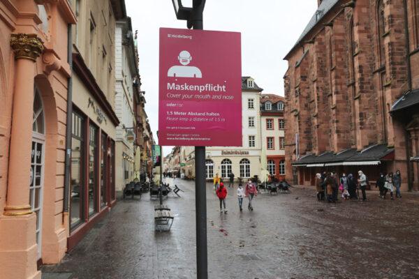 Heidelberg – Maskenpflicht: Schilder in der Hauptstraße angepasst!