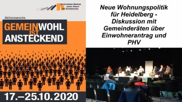 Heidelberg – Gemeinderäte nahmen Stellung zum Einwohnerantrag Wohnungspolitik und PHV – VIDEO