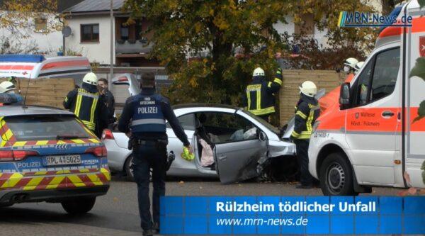 Landau – VIDEO NACHTRAG – tödlicher Verkehrsunfall bei Rülzheim