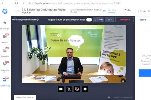 Heppenheim – Gute Gespräche und viel Wissenswertes über Gründungen – Wirtschaftsförderung Bergstraße informierte auf dem 21. Existenzgründungstag der Metropolregion Rhein-Neckar – Erstmals wurde die Veranstaltung komplett digital durchgeführt