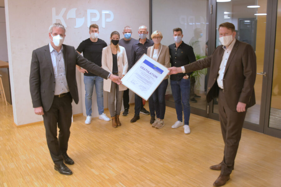 Heppenheim – 50 Jahre Kopp Schleiftechnik in Lindenfels-Winterkasten:  Landrat Engelhardt und Wirtschaftsförderung Bergstraße gratulierten Familienbetrieb