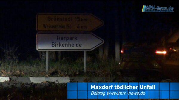 Rhein-Pfalz-Kreis – VIDEO NACHTRAG – Tödlicher Unfall mit Fahrradfahrer in Maxdorf