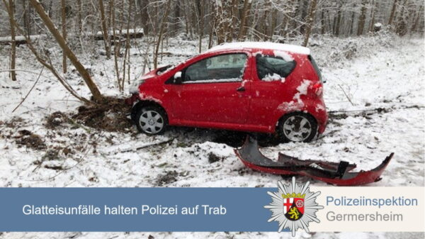Germersheim – Witterungsbedingte Verkehrsunfälle