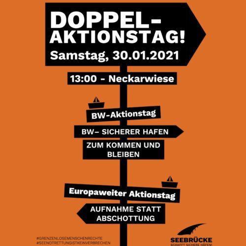 Heidelberg – Aktionstag der Seebrücke am 30. Januar 2021,  13 – 17 Uhr
