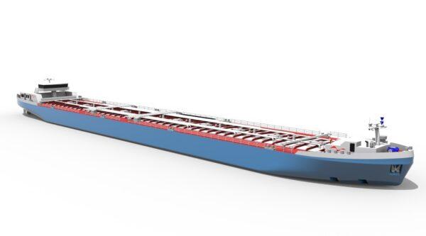 Ludwigshafen – BASF stellt innovatives Tankschiff für Rhein-Niedrigwasser vor