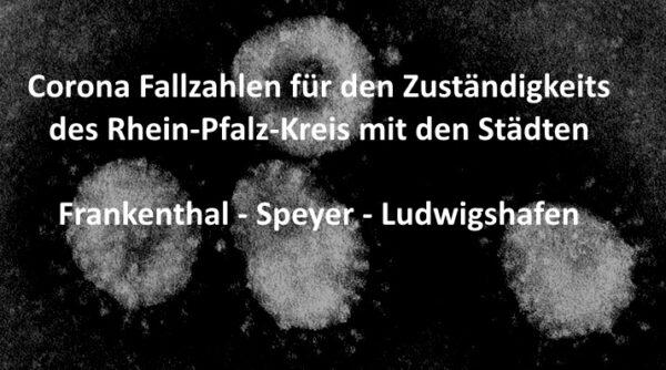 Rhein-Pfalz-Kreis – AKTUELL CORONA FALLZAHLEN – Rhein-Pfalz-Kreis, Frankenthal, Ludwigshafen und Speyer 72 neue Coronavirus Fälle seit gestern gemeldet