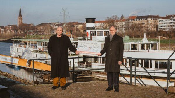 """Mannheim – Museumsschiff """"Mainz"""" bleibt in Mannheim – Stiftung der Sparkasse Rhein Neckar Nord spendet 5 000 Euro für Sanierung"""