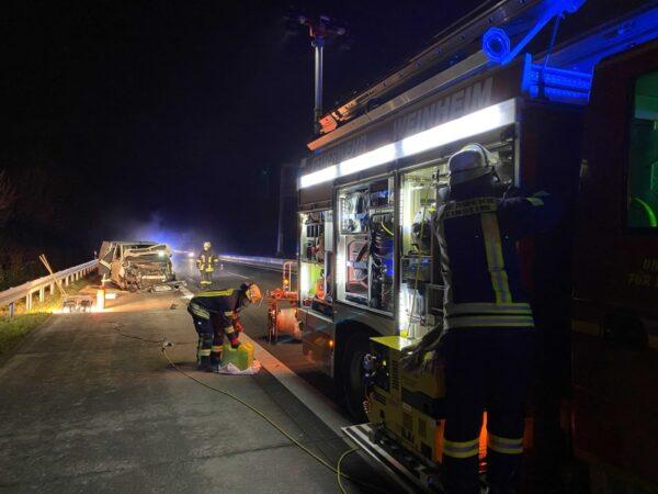 Weinheim – Viel zu tun für die Freiwillige Feuerwehr Weinheim
