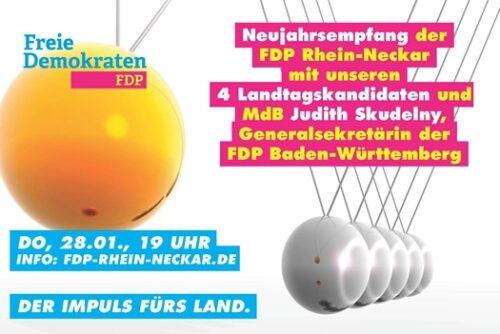 Wiesloch – FDP Rhein-Neckar lädt ein zum Online-Neujahrsempfang