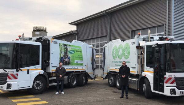 Landau – Mit frischer Botschaft ins neue Jahr – Abfallfahrzeuge des EWL werben für Nachwuchs und für den Umweltschutz