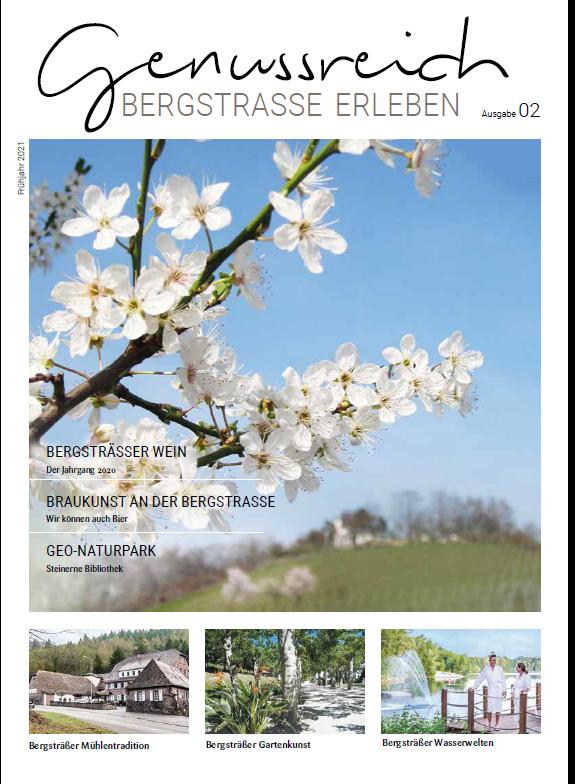 Bergstraße – Genussreich für alle Sinne! Tourismusservice Bergstraße gibt die zweite Ausgabe seines regionalen Freizeit-Magazins heraus – Bald wieder in allen Tourist-Infos
