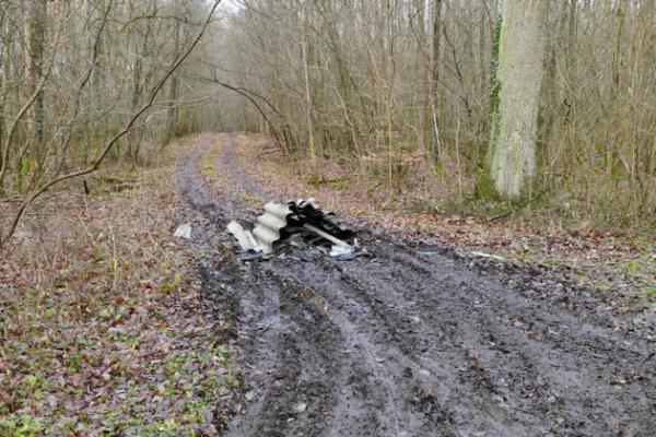 Östringen/Rettigheim – Illegale Entsorgung von asbesthaltigen Eternitplatten – Polizei sucht Zeugen