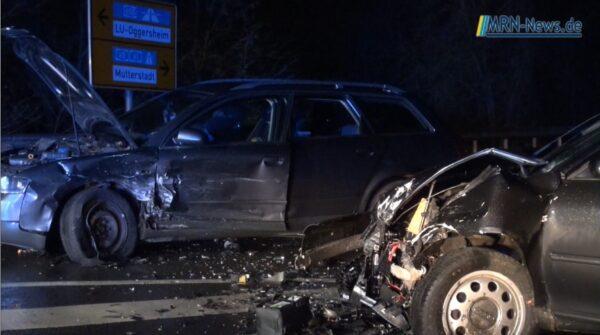 Ludwigshafen – VIDEO NACHTRAG – Unfall Speyerer Straße – K6 zwischen Oggersheim und Mutterstadt Einmündung Maudach