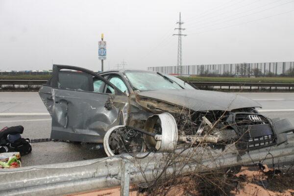 Grünstadt – Schwerer Unfall auf der #A6