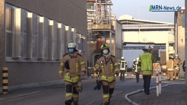 Frankenthal –  NACHTRAG: Brandursache bei Industriebrand in der Petersau steht fest