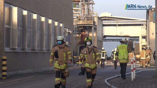 Frankenthal – VIDEO NACHTRAG – Brand auf der Petersau bei Intersnack