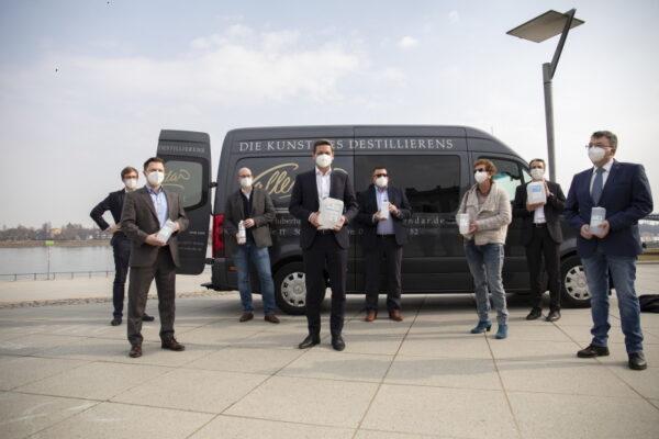 Frankenthal – Unternehmen spenden 25.544 Liter Desinfektionsmittel an Tafeln und Einzelhandel – Vermittlung von CDU-Spitzenkandidat Christian Baldauf