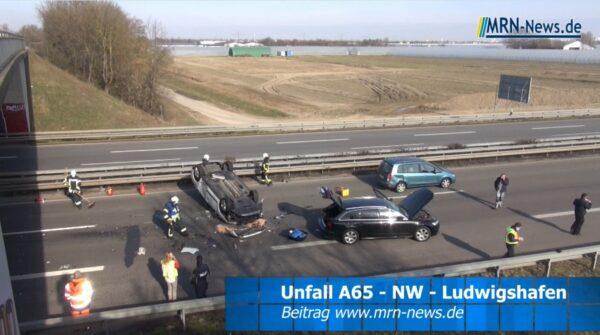Ludwigshafen – VIDEO NACHTRAG: Ein Fuchs löste einen schwerern Unfall auf der #A65 aus