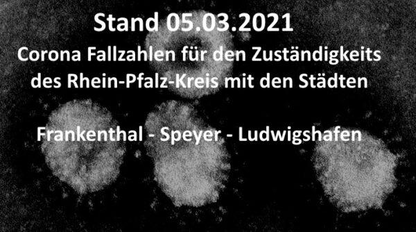Rhein-Pfalz-Kreis – Aktuelle Corona Fallzahlen für Rhein-Pfalz-Kreis, Speyer, Frankenthal und Ludwigshafen – Stand: 05.03.2021