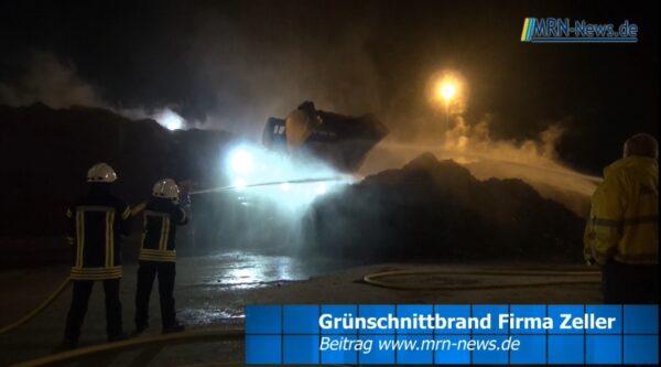 Rhein-Pfalz-Kreis – VIDEO-NACHTRAG – Brand bei Receyclingfirma Zeller Mutterstadt