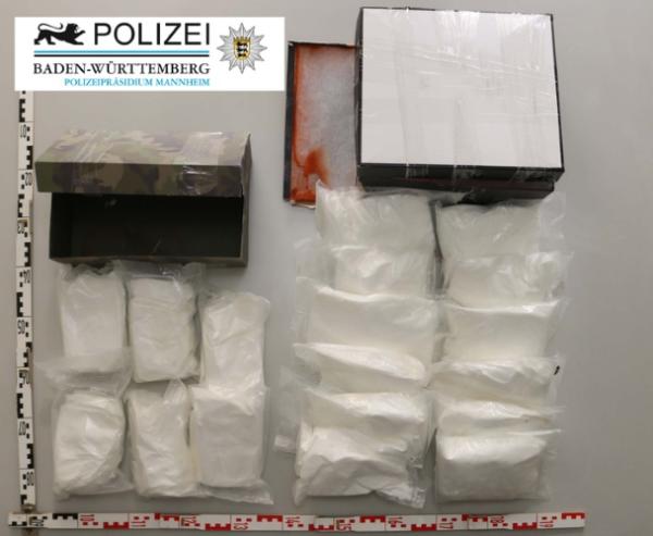 Heidelberg – Staatsanwaltschaft Heidelberg erwirkt Haftbefehl gegen 31-Jährigen wegen Verdachts des unerl. Handeltreibens mit Betäubungsmitteln in nicht geringer Menge –  18kg Amphetamin sichergestellt