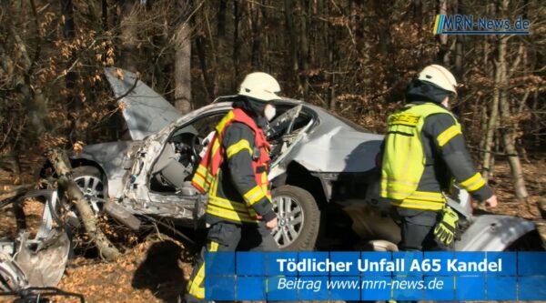 Kandel – VIDEO-NACHTRAG – A65 – Tödlicher Verkehrsunfall