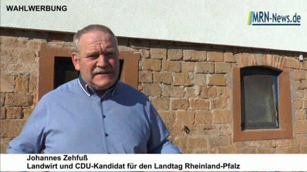 Böhl-Iggelheim – Landwirt Johannes Zehfuß (CDU) will Wirtschaft und Naturschutz in Einklang bringen – Landtagswahl 2021
