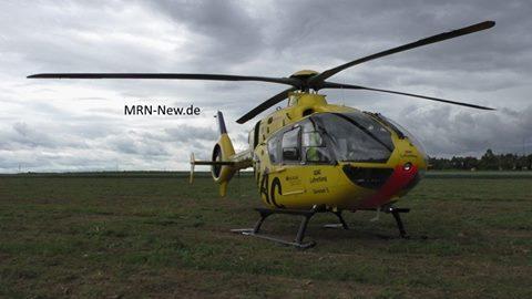 St. Leon-Rot – Bauarbeiter bei Arbeitsunfall schwer verletzt – Rettungshubschrauber im Einsatz