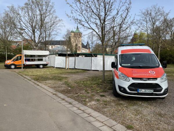 Speyer – Johanniter-Unfall-Hilfe etabliert Schnellteststation auf dem Festplatz