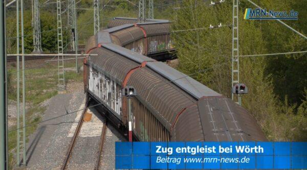 Wörth / Landkreis Germersheim – VIDEO NACHTRAG – Güterzug entgleist
