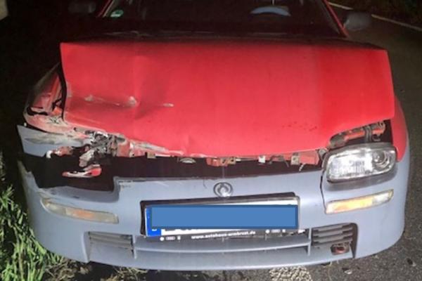 Landau – A65/NW-Nord/B38 – Wegen Ablenkung mit der Schutzplanke kollidiert