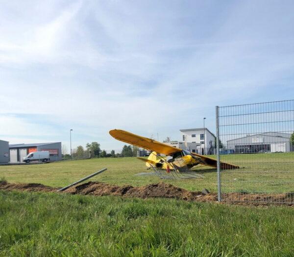 Neustadt – Absturz eines Propellerflugzeugs bei Lachen-Speyerdorf – Pilot unverletzt