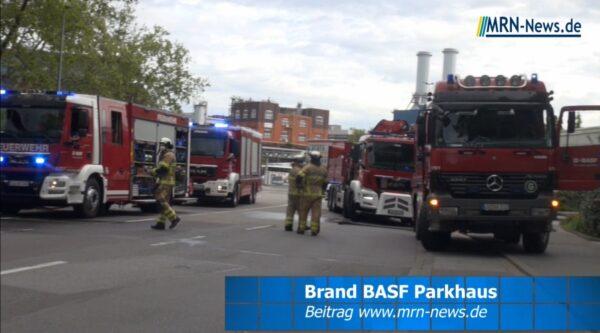 Ludwigshafen – VIDEO NACHTRAG – PKW-Brand BASF Parkhaus – Sachschaden 70.000 € – Kriminalpolizei ermittelt