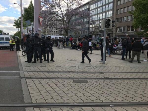 Mannheim – Polizei in der Innenstadt im Großeinsatz
